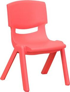 Red Plastic Stackable School Chair w/10.5