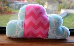 Cloud pillow. Cloud shaped cushion. Pink and door BellesBowsTas29, $38,00