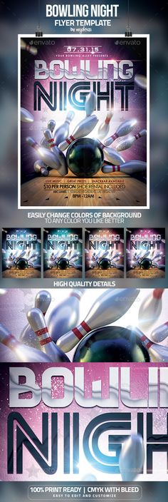 Bowling Tournament Flyer Flyers and Bowling - bowling flyer template