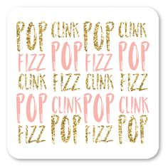 Set of 10 coasters, perfect for your next bubbly brunch Be the hostess with the mostess with our fab coasters. 120 lb. Uncoated Accent Opaque