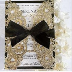 Black Gold Wedding Black tie event wedding invitation - Black, white and gold are a classical color combo, which makes any wedding elegant and chic. It's suitable for any season and style but of course classical . Gatsby Wedding, Wedding 2017, Wedding Goals, Wedding Themes, Elegant Wedding, Wedding Cards, Our Wedding, Wedding Planning, Dream Wedding
