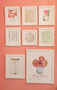 Mini-gallery wall.