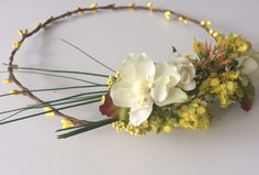 Easter crown, flower girl crown, cute and fun spring crown, field flowers headband, yellow toddler headband, wedding headband by Nostalljia on Etsy https://www.etsy.com/listing/498105766/easter-crown-flower-girl-crown-cute-and