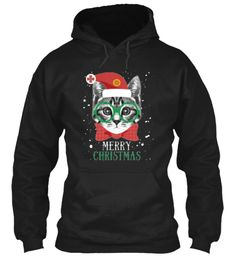 Christmas Cat Shirts And Hoodies 20% Off Black Hoodie