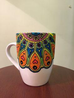 Hand Made! Taza pintada a mano ❤️ hecho con amor #Murilandia on Fb #Edding porcelain brushpen