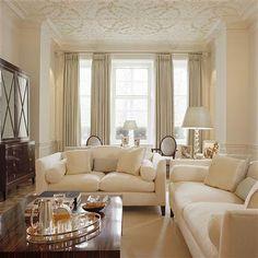 Love white living rooms.