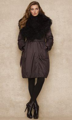 shearling collar down coat :: ralphlauren.com