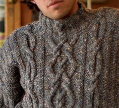 pattern 'Rhapsody' from knitting daily for Interweave.  4 free PDF download patterns for men.
