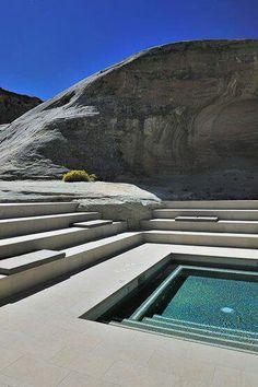 Pool on the rocks, Amangiri Utah