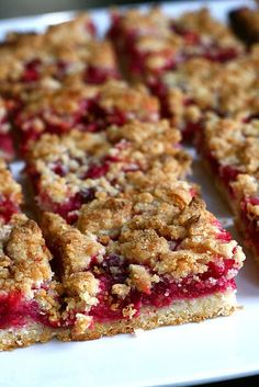 raspberry crumb bars! (could just get 4 cups of mixed berries if not enough raspberries)