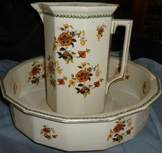 Antique Cauldon Pitcher and Basin Made in England   eBay