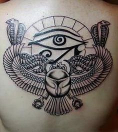 scarab means protection in the after life. I kinda find that a bit morbid tho lol Back Tattoo Women, Back Tattoos, Life Tattoos, Body Art Tattoos, Sleeve Tattoos, Flash Tattoos, Tattoo Ink, Tatoos, Jaguar Tattoo