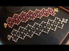 Boncuk Oyası Bileklik / Bead Lace Bracelet Making - YouTube Handmade Wire Jewelry, Beaded Jewelry Designs, Lace Jewelry, Handmade Bracelets, Bead Embroidery Patterns, Beaded Embroidery, Lace Bracelet, Beaded Bracelets, Peyote Bracelet