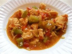 A delicious chicken stew in the slow cooker