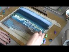 Рисуем океан пастелью - YouTube