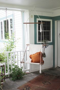 8 DIY Hanging Chairs You Need in Your Home via Brit + Co