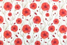 POPPIES!  One of my fave flowers :) Liberty of London Cotton Lawn Print