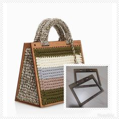Fotoğraf açıklaması yok. Fabric Handbags, Canvas Handbags, Crochet Handbags, Crochet Purses, Purses And Handbags, Diy Crochet And Knitting, Crochet Girls, Leather Bags Handmade, Handmade Bags