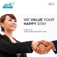 We #Value your #Happy #Stay www.yallacheckinn.com