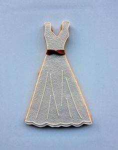 Casue — Decorated Wedding Dress Cookies by Casue