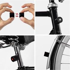 Kiosk by Pizzolorusso — Lucetta ~ Magnetic Bike Lights How Do I Live, Bon Courage, Bicycle Lights, Bike Light, Fixed Gear Bicycle, Brompton, Red Led, White Lead, Magnets