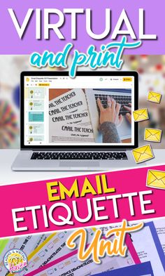 Teach students digital communication skills they will need to be successful in a virtual classroom and beyond! This unit is engaging, effective, and capitalizes on several different writing standards. Use the digital or print version with middle or high school students. #EmailEtiquette #DigitalCommunication #MiddleSchoolELA #HighSchoolELA Middle School Ela, Middle School English, English Lesson Plans, English Lessons, Workshop Ideas, Writing Workshop, Teaching Writing, Teaching Ideas, English Language