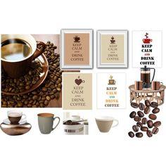 """coffee"" by gonulk on Polyvore  #coffedecor #Art #Print #Digital #Poster #homedecorkeepcalm #keepcalmartprint #kitchendecor #keepcalmposter #keepcalmcustomart #coffeeartdecor #coffeeshopart #cafedecor #calmdrinkcoffee #coffeelovers #christmasgift #heart #mug #cup #printable #brown #coffeedecor"