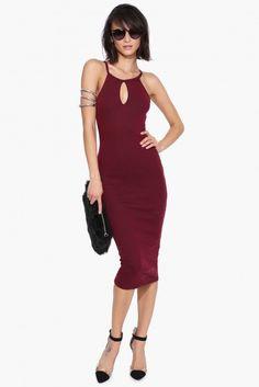 It's Key Midi Dress in Black | Necessary Clothing