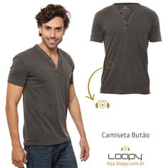 A nossa camiseta Butão é 100% algodão e tem um decote diferenciado com botões.   O bordado é deslocado na lateral da peça! TOP.   #loopy #loopyoficial #loopyteam #2014deloopy