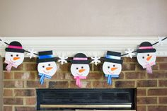 Snowman banner / Christmas banner / holiday by PlayfulPaperwork, $30.00