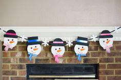 Snowman banner / Christmas banner / holiday by PlayfulPaperwork, $30.00