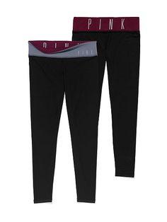 VS PINK Ultimate Reversible Yoga Legging-maroon/grey