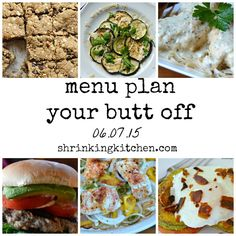 So many delicious and varied dishes in this week's Menu Plan Your Butt Off! There's truly something for everyone...and it's all healthy!