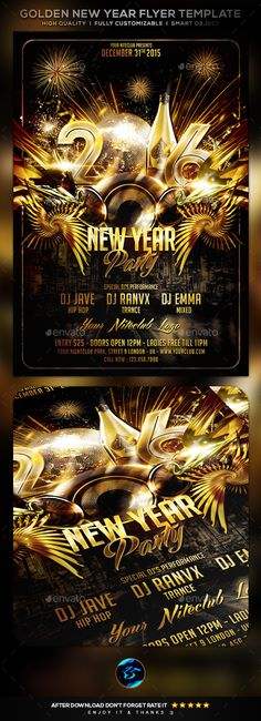 New Year Flyer  Flyer Template Template And Party Flyer