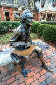 Thomas Jefferson bronze, Colonial Williamsburg, Virginia