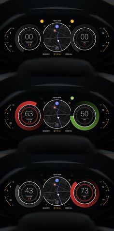 Car dashboard. Looks really cool.: