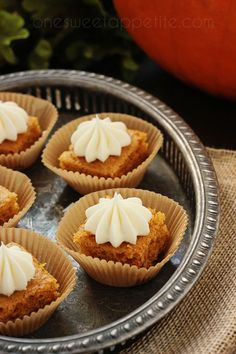 This recipe for pumpkin bars is simply the best. Top them with a silky cream cheese frosting and watch them disappear.
