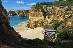 Praia da Marinha - one of the most emblematic and beautiful beaches of Portugal, located on the Atlantic coast in Lagoa, Algarve, and considered by the Michelin Guide as one of the 10 most beautiful beaches in Europe and as one of the 100 most beautiful beaches in the world - http://www.ealgarve.com/attractions/praia-da-marinha/