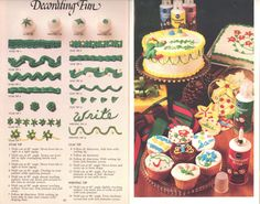 "Cake Decorating Fun tips guide from 1980 Pillsbury #vintage booklet ""Sweet Success"""