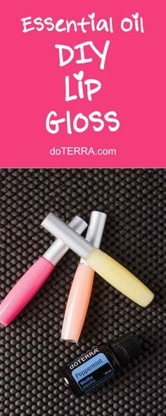 doTERRA Essential Oils DIY Lip Gloss Recipe