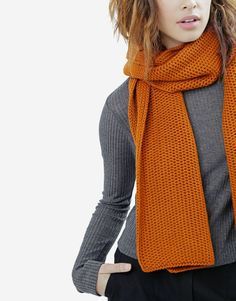 This Charming Scarf by Wool and the gang Gray and orange