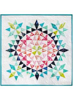 Kaleidoscope Mini Quilt by Debbi Groskopf - Pattern available through: Craftsy - Morning Star block