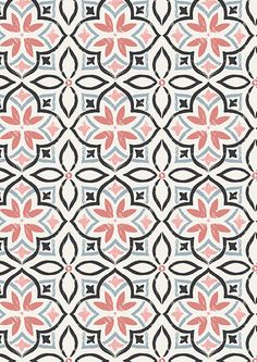 "Lewis & Irene - Marrakech Wide Cotton ""Shaded from the sun by a lemon tree in the courtyard of a Moroccan riad. Sat by a cool fountain sipping minted tea surrounded by the beautiful colours and patterns of the tiles . Motifs Textiles, Textile Patterns, Textile Design, Pretty Patterns, Beautiful Patterns, Color Patterns, Boho Pattern, Pattern Art, Moroccan Pattern"