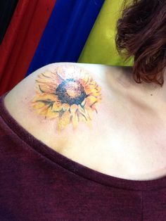 TATTOOS.ORG - Sunflower Shoulder Tattoo Submit Your Tattoo Here:...
