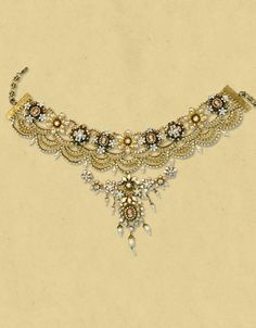 choker necklace | Michal Negrin ~ Lace Choker Necklace
