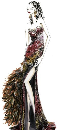 Fashion Illustration by Los Angeles based Artist Shelby Andre Date. www.shelbyandredate.com