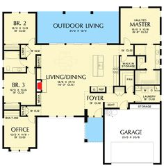 Flexible 3 Bed Prarie Style House Plan - 69614AM   1st Floor Master Suite, Butler Walk-in Pantry, CAD Available, Den-Office-Library-Study, Northwest, PDF, Prairie, Ranch, Split Bedrooms   Architectural Designs