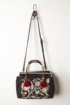 Embroidered crossbody bag, Campanillas Threadwork Satchel, Anthropologie
