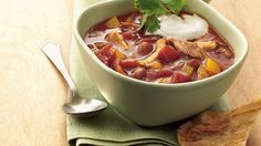 Slow Cooker Chicken Enchilada Chili (Cooking for Two)  Everyone liked this one, made a big batch.