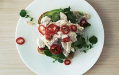 This open-faced sandwich provides a twist on your usual lunch by using smoked trout. Adding fresh lemon juice helps balance out all the heavier flavors. This recipe is part of our lunch for a week series; check out the rest for the remaining days here.